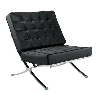 Pavilion Lounge Chair Upholstery: Black