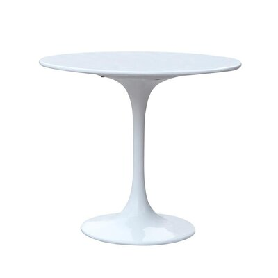 Rose Dining Table Color: Silver, Size: 29 H x 30 W x 30 D