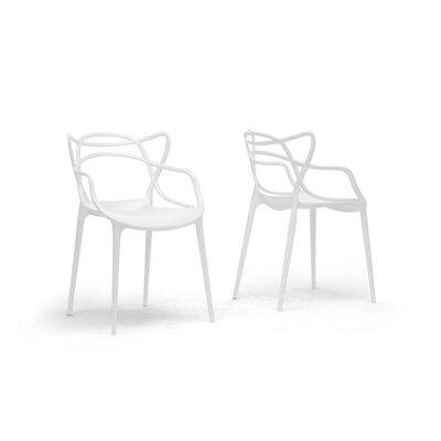 Farina Armchair Color: White