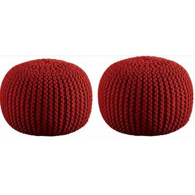 Ellinger Pouf Upholstery: Red