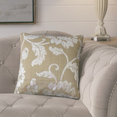 Bertrand Floral Throw Pillow Color: Cocoa