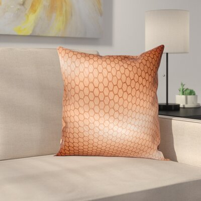 Comb Motion Mesh Square Pillow Cover Size: 16 x 16
