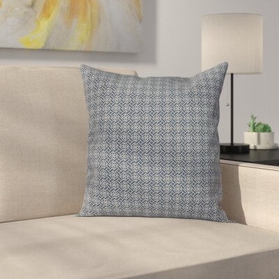 Geometric Floral Motif Cushion Pillow Cover Size: 24 x 24
