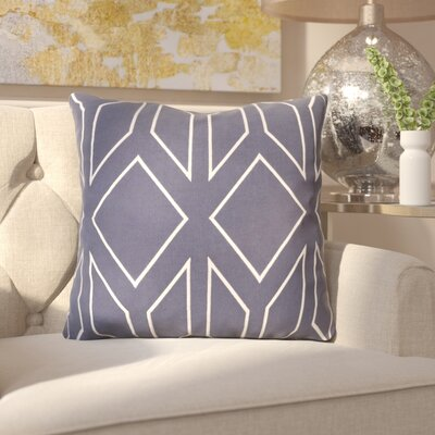 Honiton Linen Throw Pillow Size: 20 H x 20 W x 4 D, Color: Slate