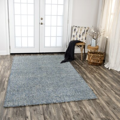 Hover Hand-Tufted Wool Blue Area Rug Rug Size: Rectangle 8 x 11