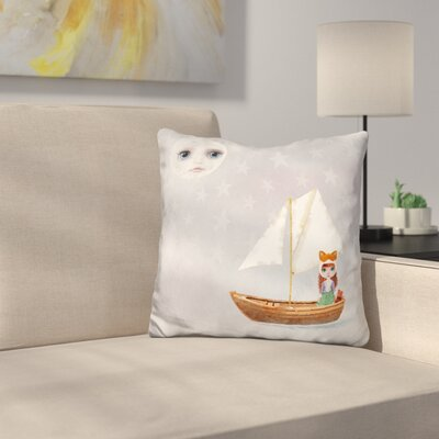 Sq Miss Linda Fox Sailing Boat Throw Pillow