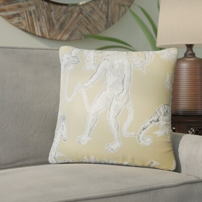 Wildhollow Graphic Cotton Throw Pillow Color: Jute