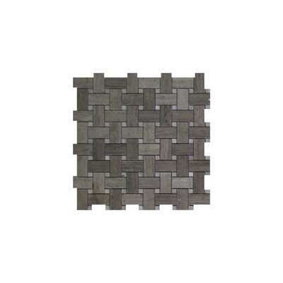 Milano Basket Weave 1 x 2 Marble Mosaic Tile in Gray