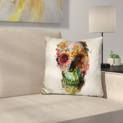 Skull Square Throw Pillow