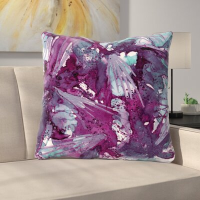Birds of Prey Throw Pillow Size: 16 H x 16 W x 6 D, Color: Aqua / Purple