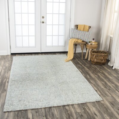 Hover Hand-Tufted Wool Light Gray Area Rug Rug Size: Rectangle 10' x 13'