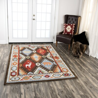 Pouliot Hand-Tufted Wool Brown Area Rug Rug Size: Rectangle 5 x 8
