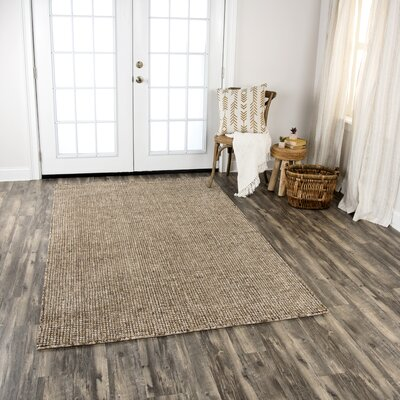 Hover Hand-Tufted Wool Brown Area Rug Rug Size: Rectangle 5 x 8