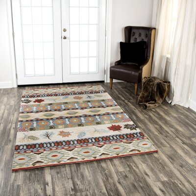 Pouliot Hand-Tufted Wool Beige Area Rug Rug Size: Rectangle 5' x 8'