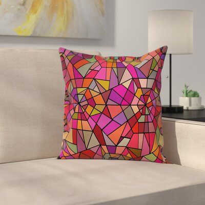 Vitray Mosaic Triangle Square Pillow Cover Size: 20 x 20