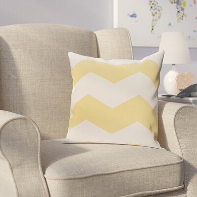 Milo Throw Pillow Size: 16 H x 16 W, Color: Lemon