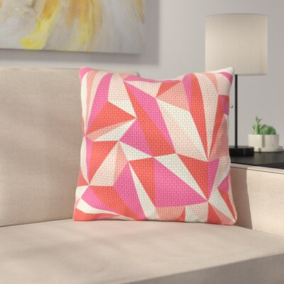 Stitched Pieces by MaJoBV Throw Pillow Size: 16 H x 16 W
