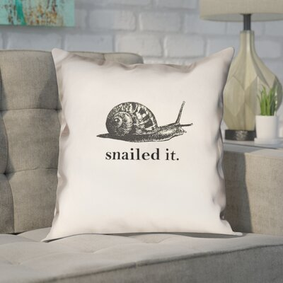 Pecora Snailed It Throw Pillow Size: 26 x 26