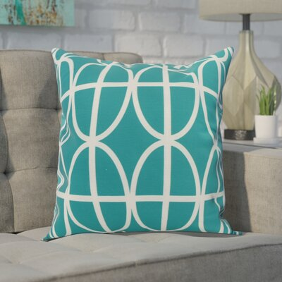 Carmack Print Throw Pillow Color: Teal, Size: 20 x 20