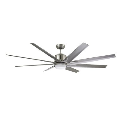 54 Shawnita Eco 8 Blade LED Ceiling Fan Finish: Graphite with Driftwood Blades
