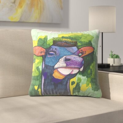 Royal Cow Throw Pillow Size: 16 x 16