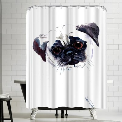 Suren Nersisyan Pug Face Shower Curtain