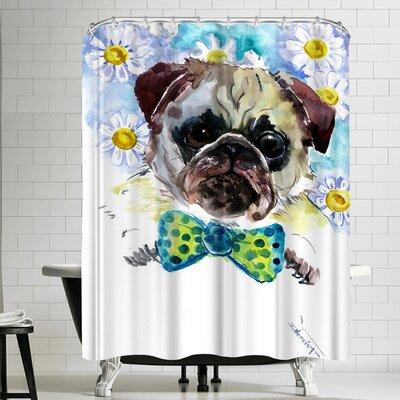 Suren Nersisyan Pug Face Shower Curtain