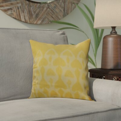 Viet Watermark Indoor/Outdoor Throw Pillow Size: 16 H x 16 W, Color: Yellow