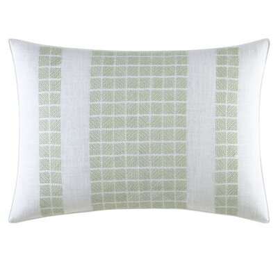Norwich Embroidered Geometric Cotton Throw Pillow