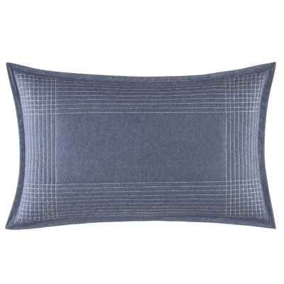 Norwich Stitched Plaid Cotton Throw Pillow