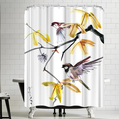 Suren Nersisyan Sparrows And Fall Shower Curtain