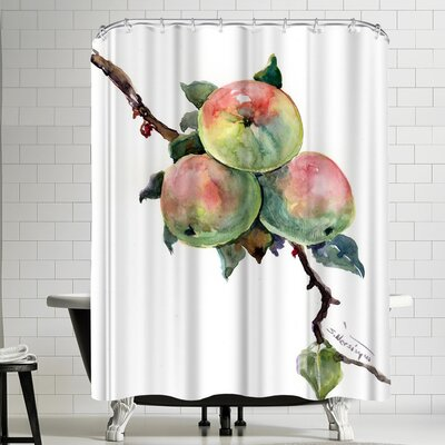 Suren Nersisyan Apples Shower Curtain