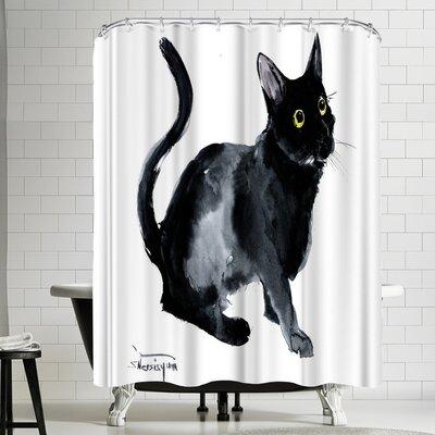 Suren Nersisyan Black Cat Shower Curtain