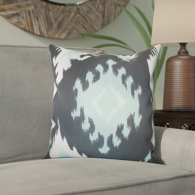Emmitt Ikat Cotton Throw Pillow Color: Blue, Size: 20 H x 20 W