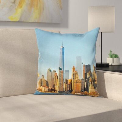 New York City Skyline Square Pillow Cover Size: 24 x 24