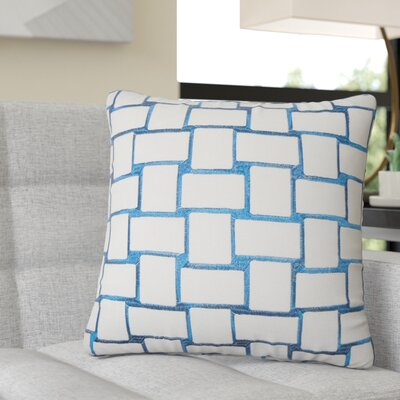Reeve Geometric Throw Pillow Color: Teal