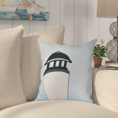 Hancock Safe Harbor Geometric Print Throw Pillow Size: 18 H x 18 W, Color: White