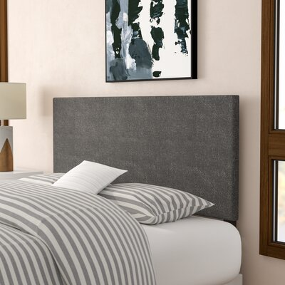 Albermarle Upholstered Panel Headboard Size: Queen, Upholstery: Gray