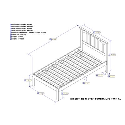 Enders Platform Bed with Open Footboard Size: Twin XL