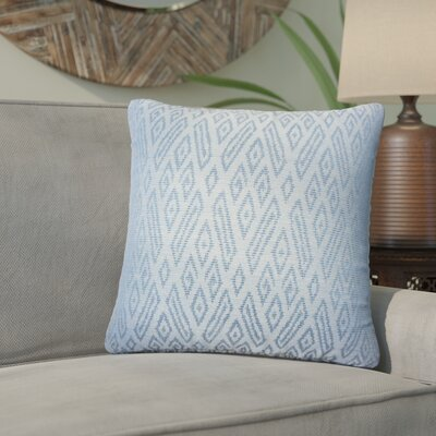 Zakary Ikat Cotton Throw Pillow Color: Lapis