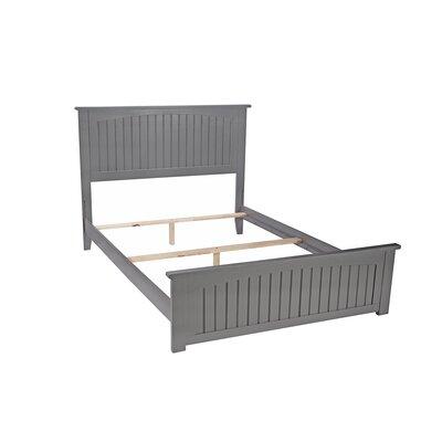 White Full/Double Panel Bed