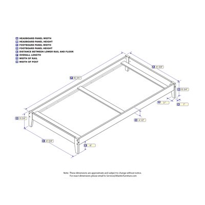 Sharrott Panel Bed Size: Twin XL