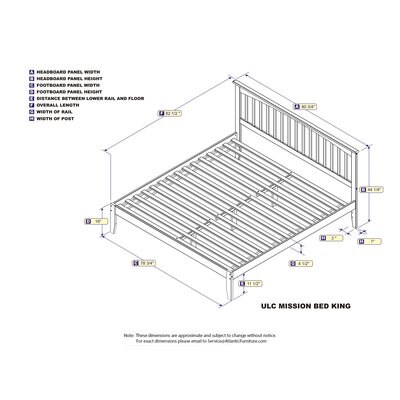 Enders Platform Bed with Open Footboard Size: King