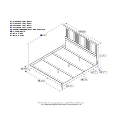 White Panel Bed Size: King