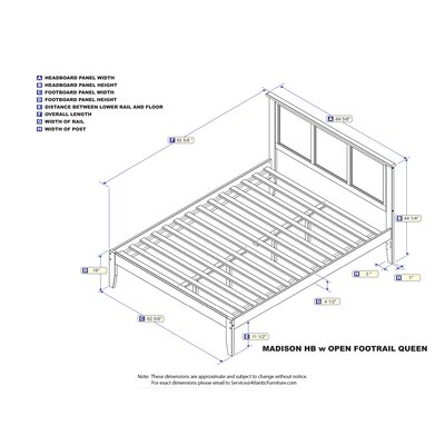Newmont Platform Bed with Open Footboard Size: Queen