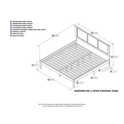Newmont Platform Bed with Open Footboard Size: King