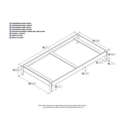 Sharrott Panel Bed Size: Twin