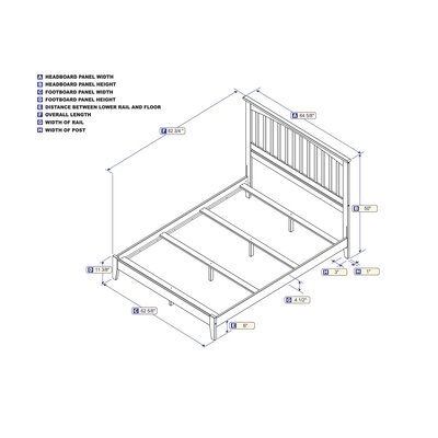 Enders Panel Bed Size: Queen