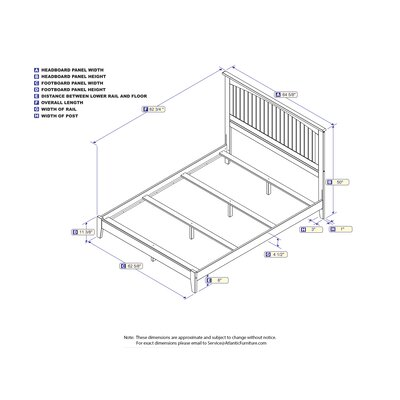White Panel Bed Size: Queen