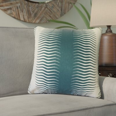 Ursina Geometric Down Filled 100% Cotton Throw Pillow Size: 24 x 24, Color: Peacock
